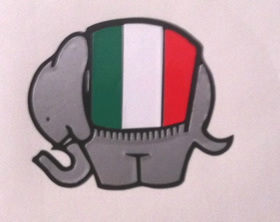 Ducati Duke Elephant with Italian Flag