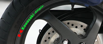 Kawasaki Ninja Rim Decal set