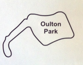 Oulton Park Circuit Map Decal