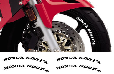 Rim Decal set Honda 600F4i